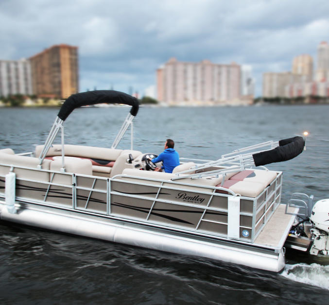 "24' 24"" Bentley Pontoon Boat For Rent In North Miami Beach"