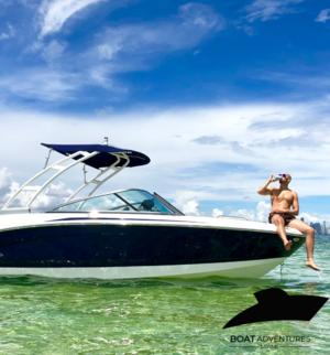 length make model boat for rent Key Biscayne