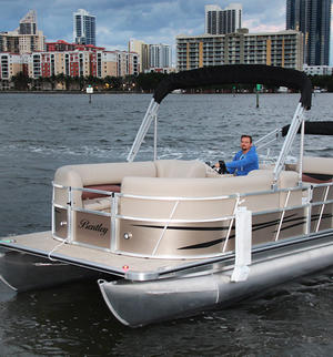 24 24 bentley pontoon boat for rent in north miami beach for Fishing boat rentals near me